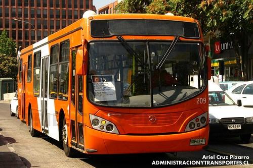 Transantiago - Redbus Urbano - Mascarello Gran Via / Mercedes Benz (SW6941)