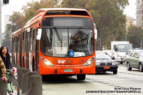 Transantiago - Express de Santiago Uno - Marcopolo Gran Viale / Volvo (WB2348)