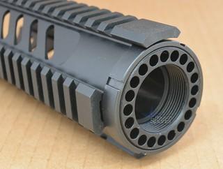 Slotted Gen 3 Free Float Quad Rail Handguard Forend- Carbine Length