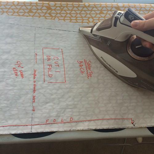 freezer paper pattern ironing