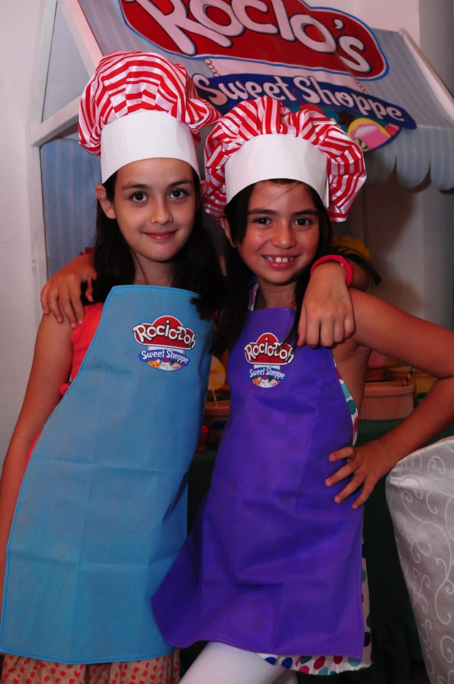 Play Doh Aprons and Peppermint Chef Hats