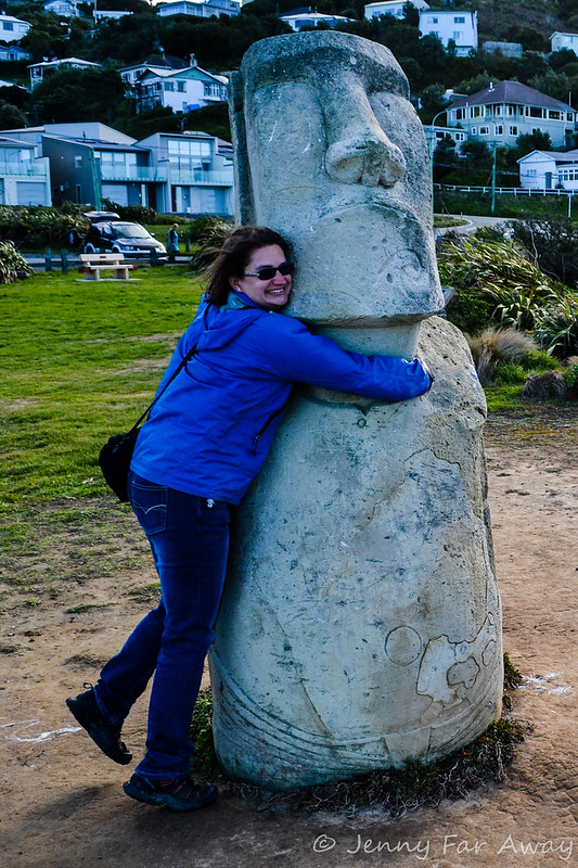 Easter Island head in Wellington