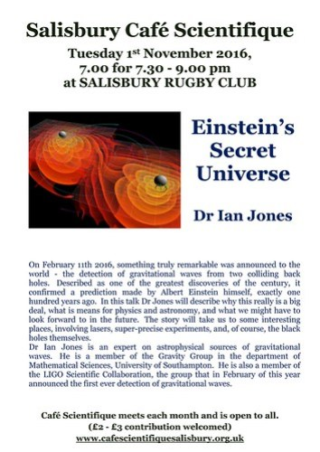 Poster for Dr Ian Jones