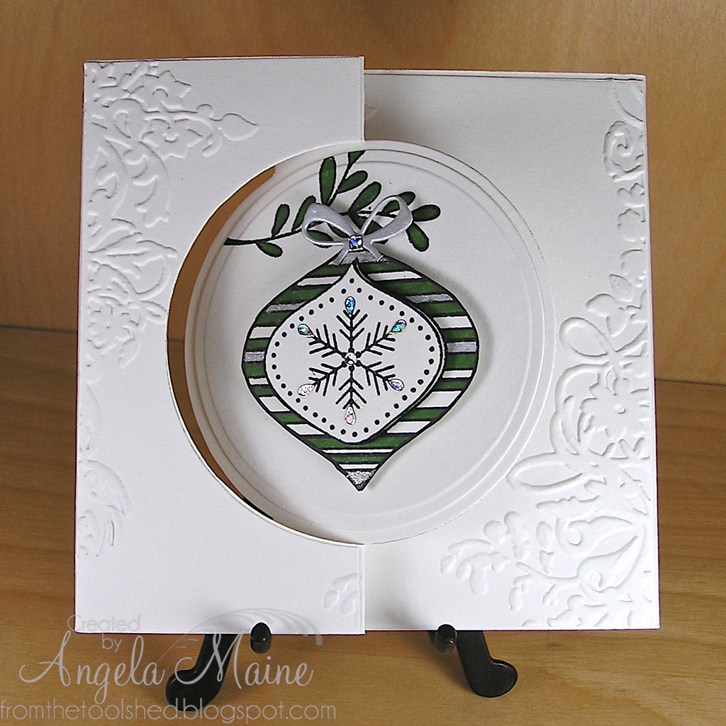 Flip Card Ornament 1 Hero Arts Clear Stamp Set Colored