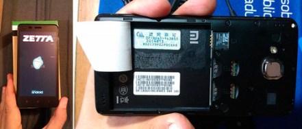 Este es el dispositivo de Zetta, noten como le pegaron una calcomanía (pagatinta) para cubrir su marca original: XIaomi.
