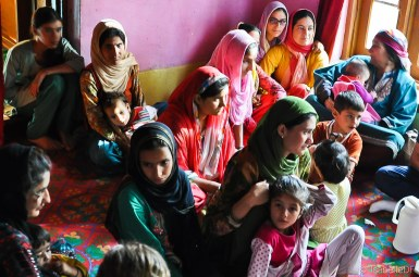 Kashmiri mothers gather.