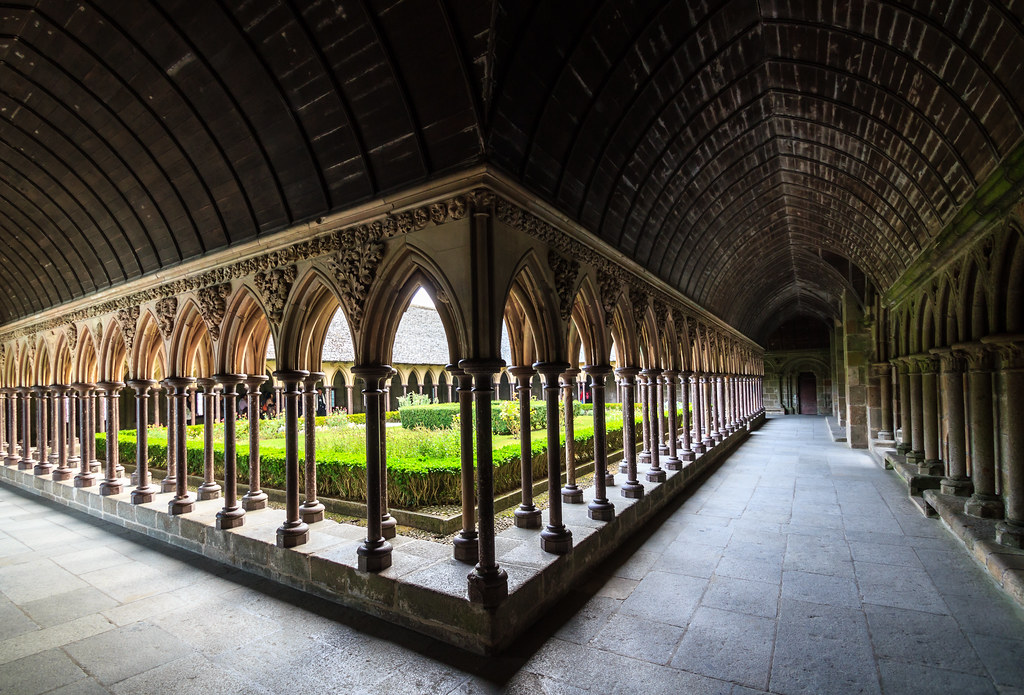 The Cloister Of Mont Saint Michel Abbey France Buy This