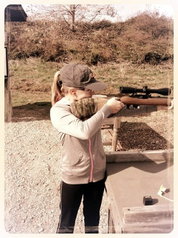 Olivia's first experience with a Rifle