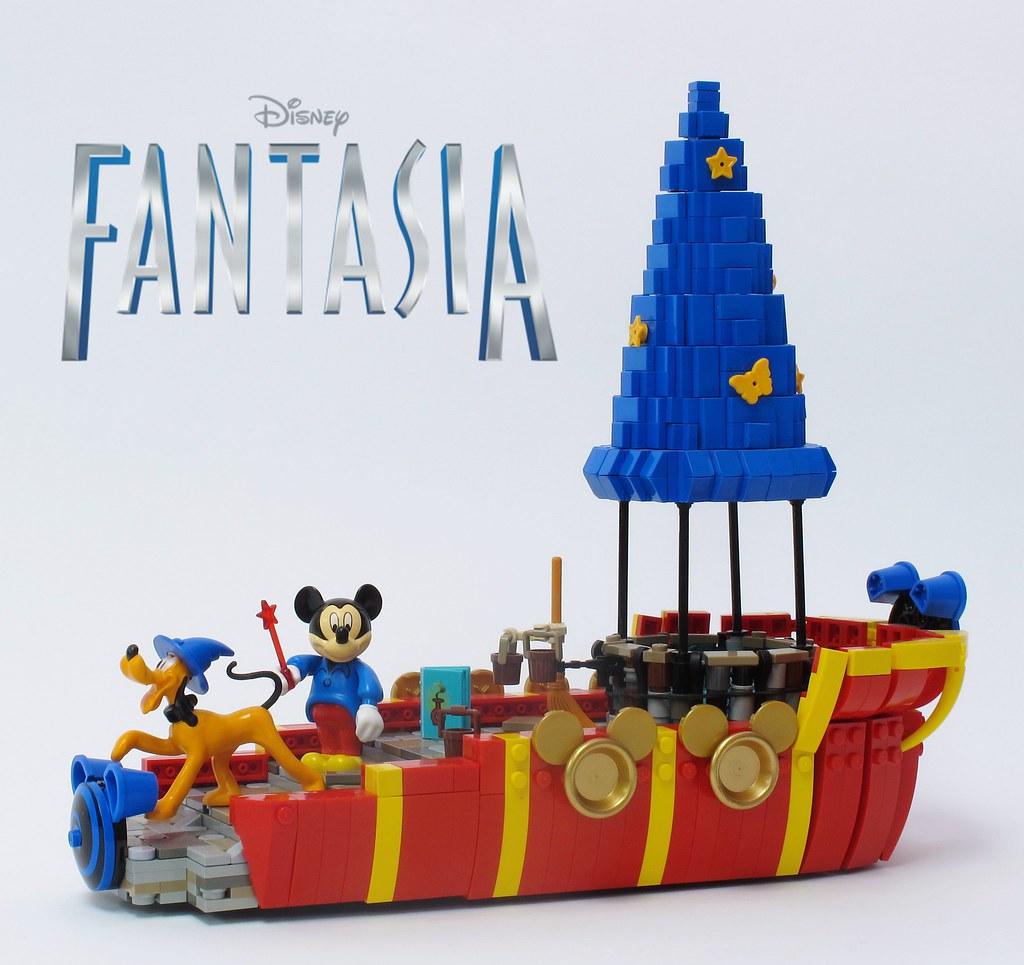 Lego Disney Mickey Mouse Fantasia Float Disneys Fantasia Flickr