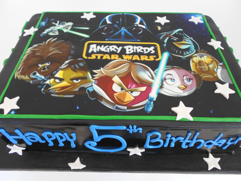 Angry Birds Star Wars Cake With Edible Image