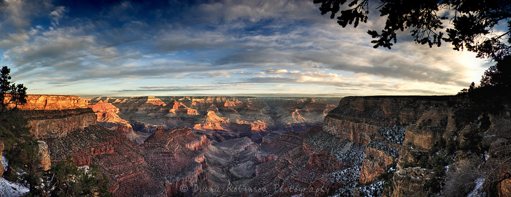 South Rim Of The Grand Canyon Panorama South Rim Of The