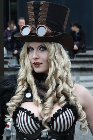 Steampunk Girl In Top Hat Taken At WGT 2013 May 17 To