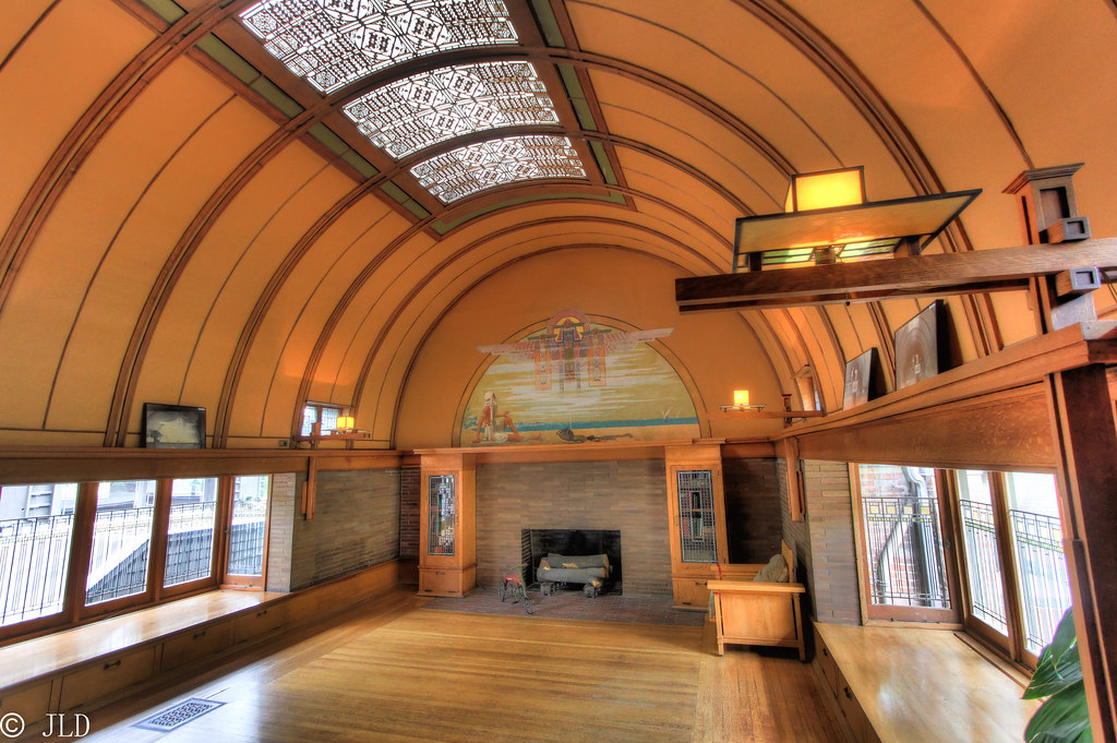 Barrel Vaulted Ceiling In The Frank Lloyd Wright Home Flickr