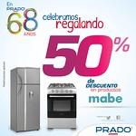 Descuento grande en productos MABE gracias a PRADO - 09ago14