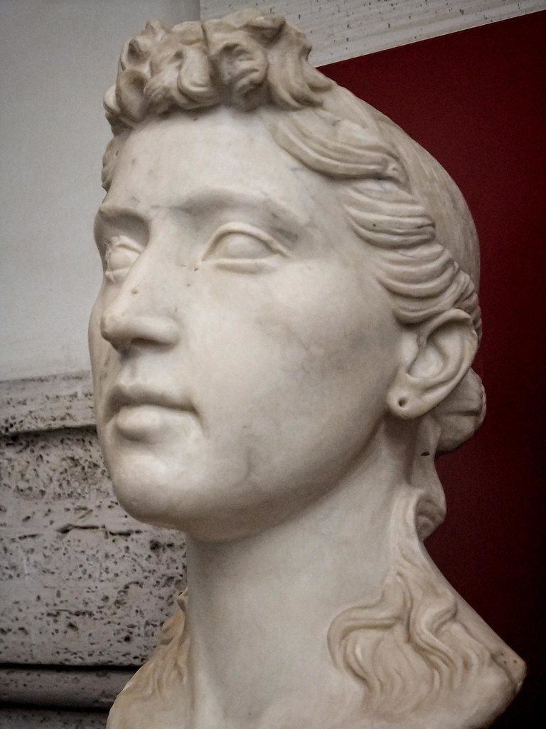Funerary Portrait Of A Young Roman Woman With A Hairstyle