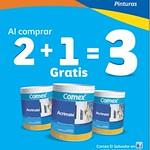 Al compras 2 te llevas uno gratis COMEX pinturas - 26ago14