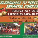 MUNDO FELIZ san salvador celebra tu cumpleaños - 09sep14