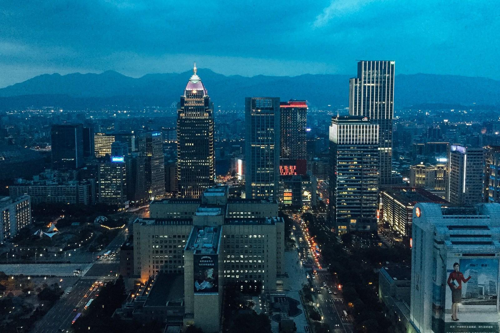 Vistas desde lo alto del Taipei 101 para una cena de San Valentín