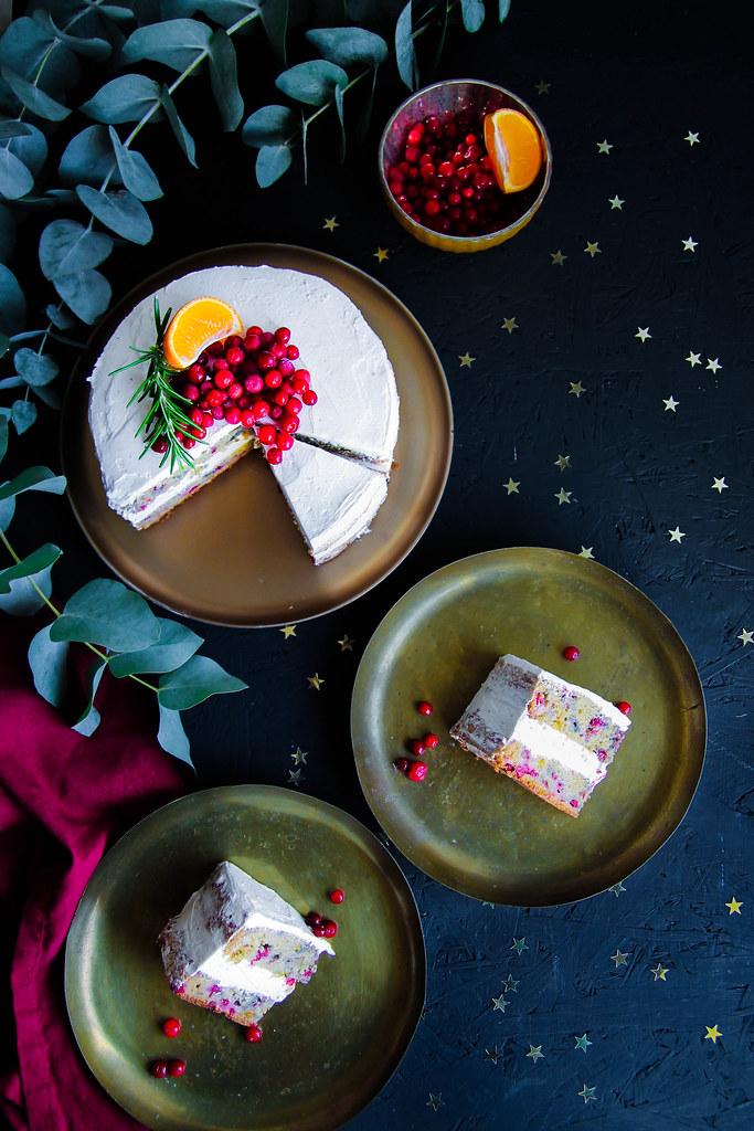 Gâteau de Noël aux airelles