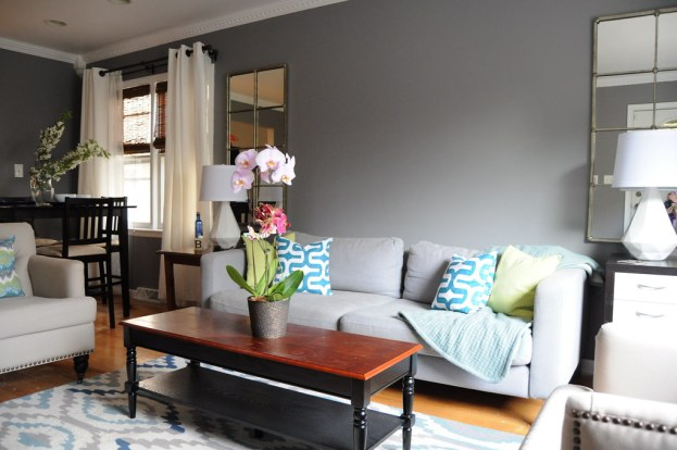Image result for Gray Teal Lime Blue Living Room flickr