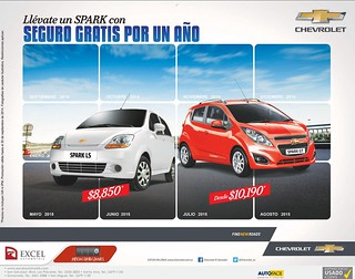 Seguro de auto GRATIS por un año por compra CHEVROLET Spark - 16sep14