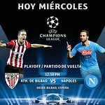 hoy miercoles partido UEFA champions league ATHLETIC de BILBAO vs NAPOLES en vivo