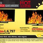 descuento televisor sony La curacao Honduras