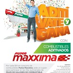 gasolinera PUMA Maxxima promocion aditivate y GANA - 02sep14