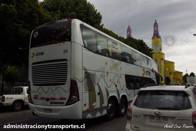 Buses ETM | Castro (Chiloé) | Marcopolo Paradiso 1800 DD - Scania / DLFJ94 - 96