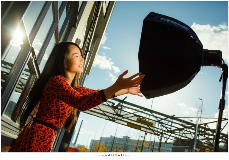 Genieten van het zonlicht op een heerlijke herfstochtend in oktober. (35mm; ISO100; f/4; t=1/8000sec)