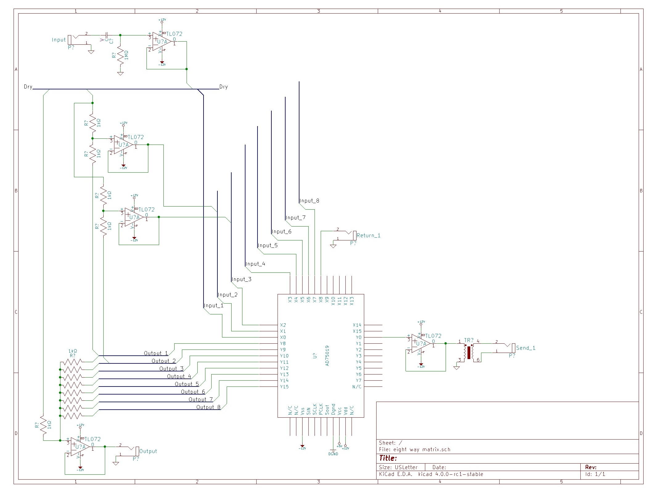 Pedal Switching Matrix With The Ad