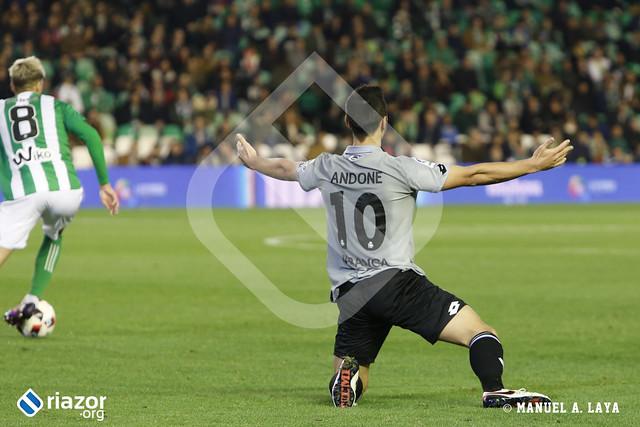 Copa del Rey. 1/16 de final, ida. Betis - Deportivo