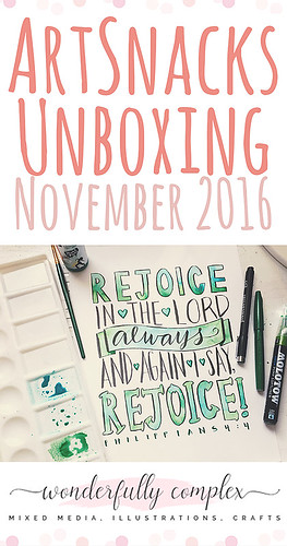 ArtSnacks November Unboxing (Illustrating Philippians 4:4)