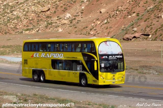 El Rápido Internacional | Paso Los Libertadores | Metalsur Starbus 2 - Scania / OXG591 - N° 7051