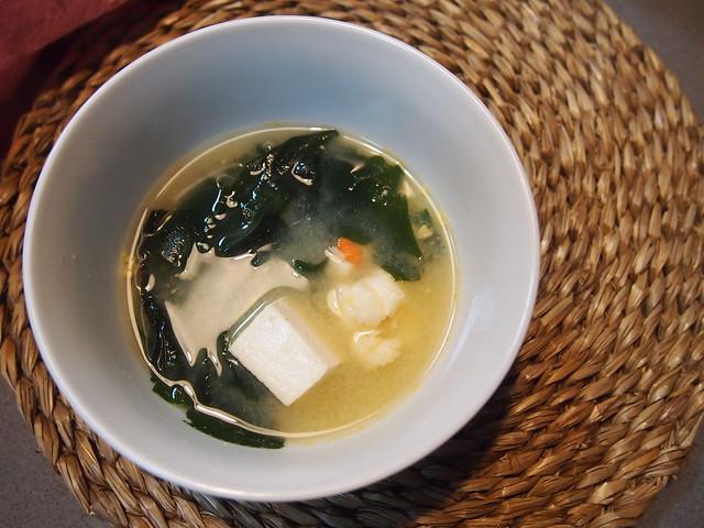 Sopa Miso elaborado en el curso de cocina japonesa en Flow Cooking.