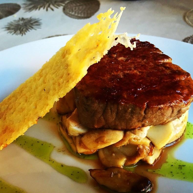 Solomillo con boletus y queso Idiazábal