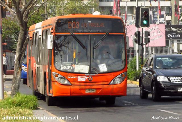 Transantiago D03 | Express | Marcopolo Gran Viale - Scania / CJRS46