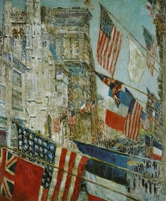 Allies Day May 1917, 1917, Oil on Canvas (Frederick) Childe Hassam, National Gallery of Art, Washington, DC