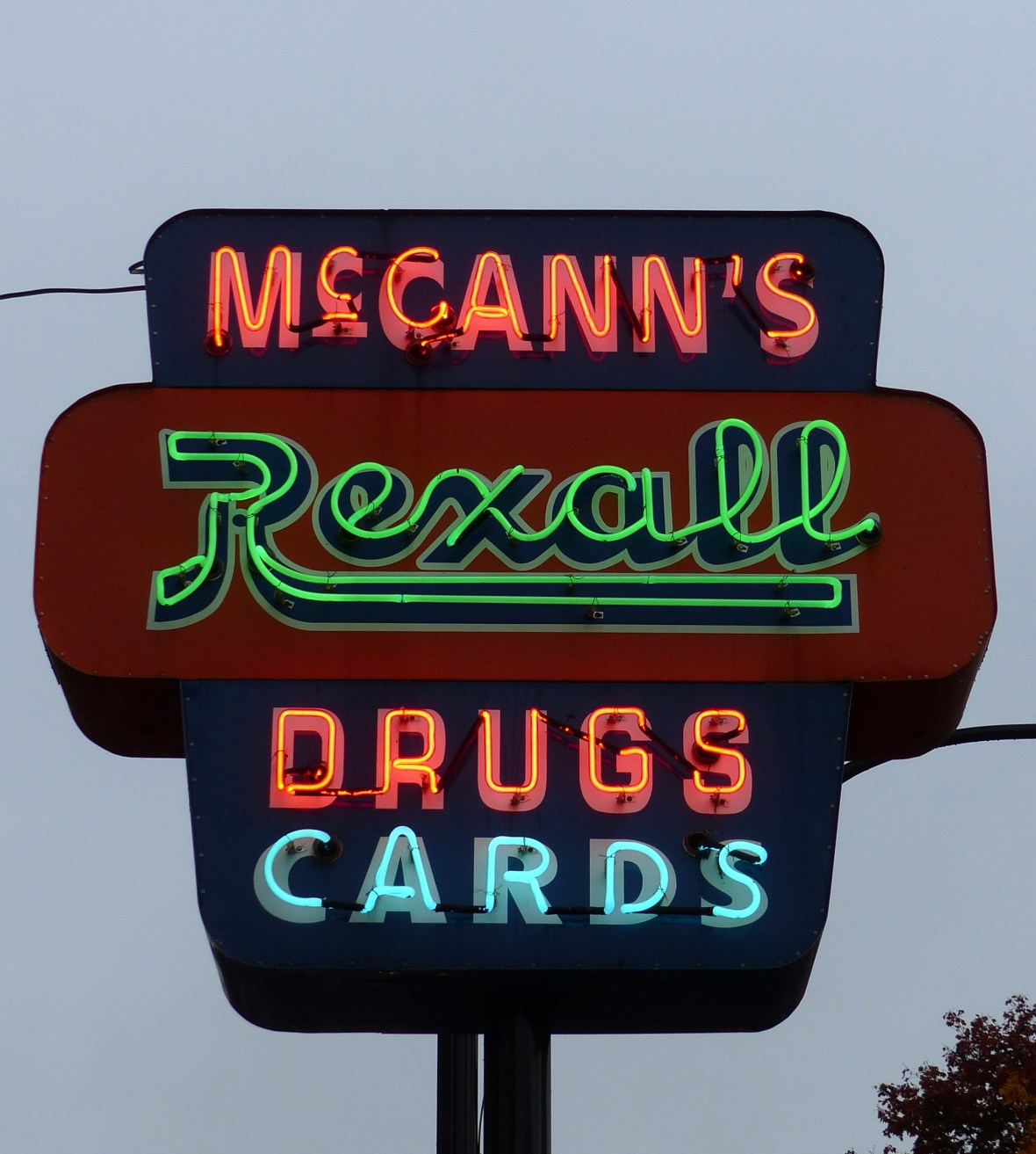 McCann's Rexall Pharmacy - 166 Main Street, Hudson Falls, New York U.S.A. - October 21, 2016