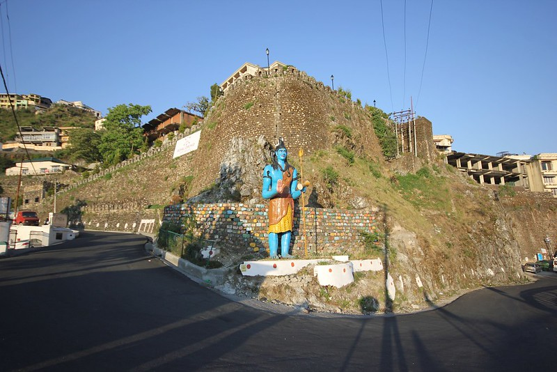 Lord Shiva statue near Hotel Ever Green, Mussoorie
