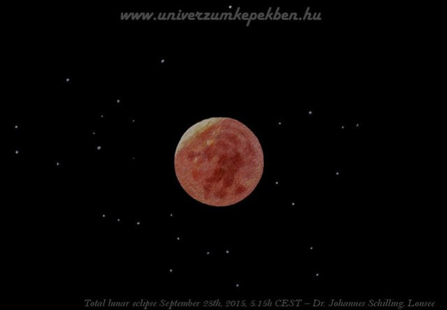 Total lunar eclipse September 28th, 2015, 5.15h CEST - Dr. Johannes Schilling, Lonsee