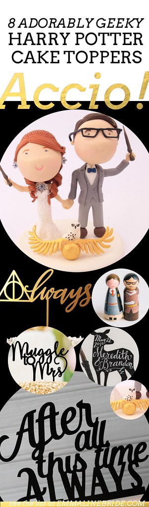 8 Adorably Geeky Harry Potter Cake Toppers Emmaline Bride