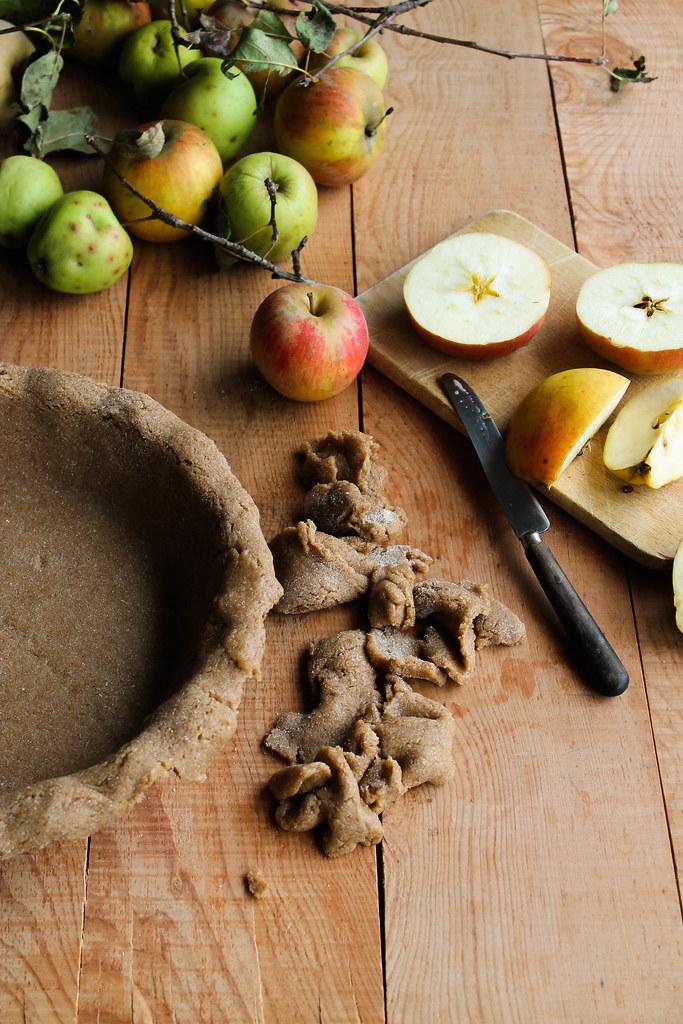 Appeltaart, tourte aux pommes {vegan}