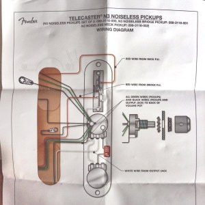 Fender Telecaster N3 Noiseless Pickups wiring diagram | Flickr