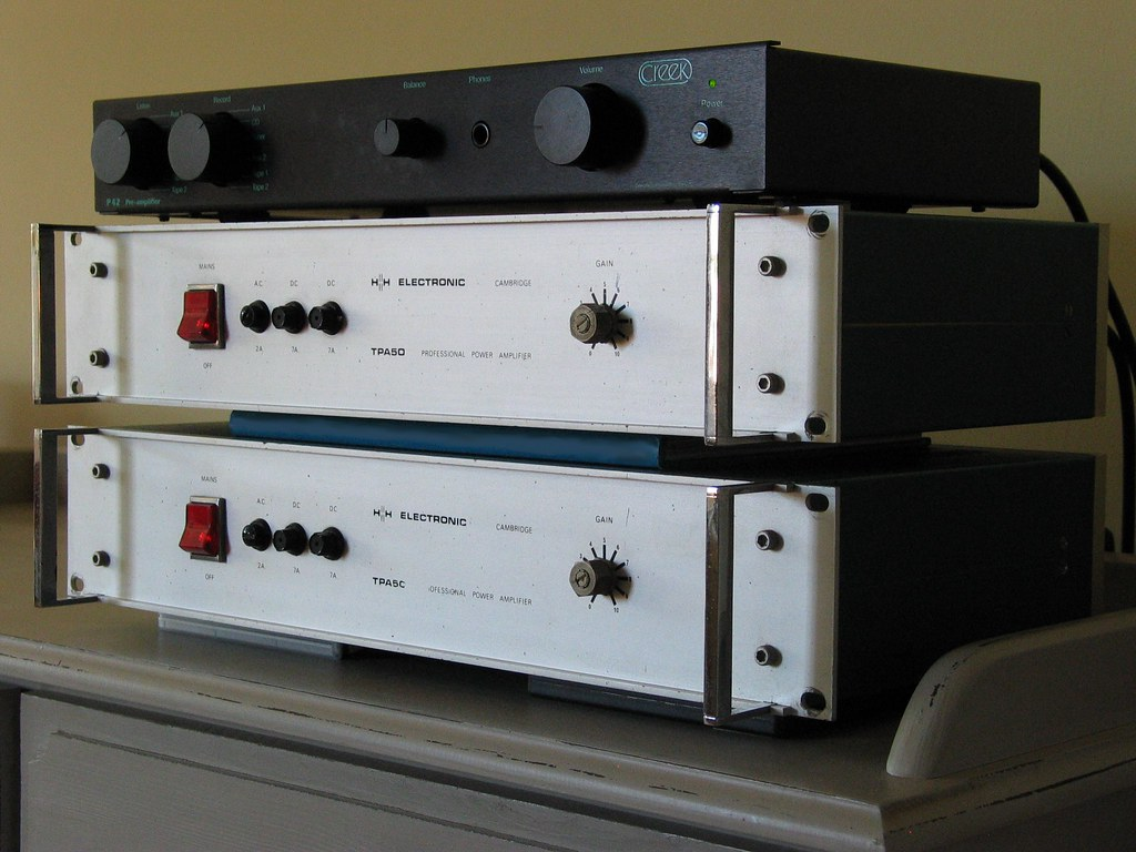 Creek P42 Pre Amplifier H H Electronics Tpa50 Mono Block