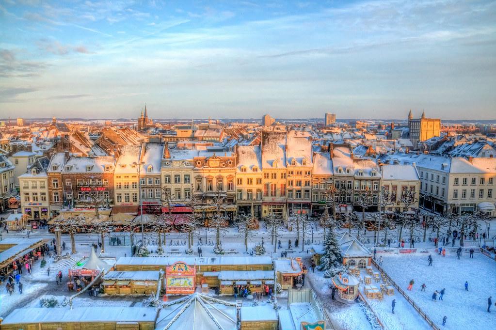 Maastricht Christmas Market Taken At Last Years