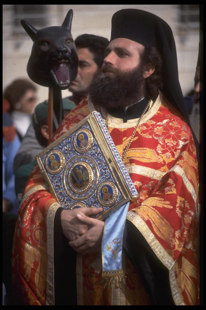 A Greek Orthodox Priest During Christmas In Bethlehem Flickr