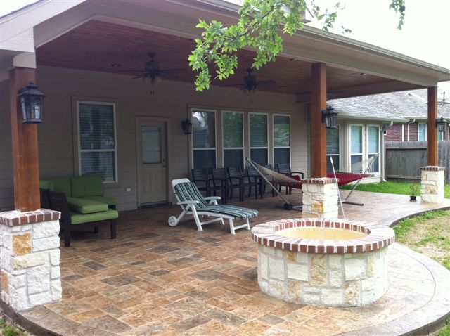 IMG_0976   A firepit on a large, partially-shaded patio ... on Backyard Patio Extension Ideas id=96342