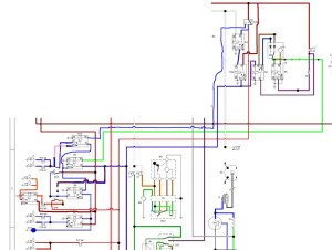 Wiring diagram for the dimdip system fitted to Reliant SST