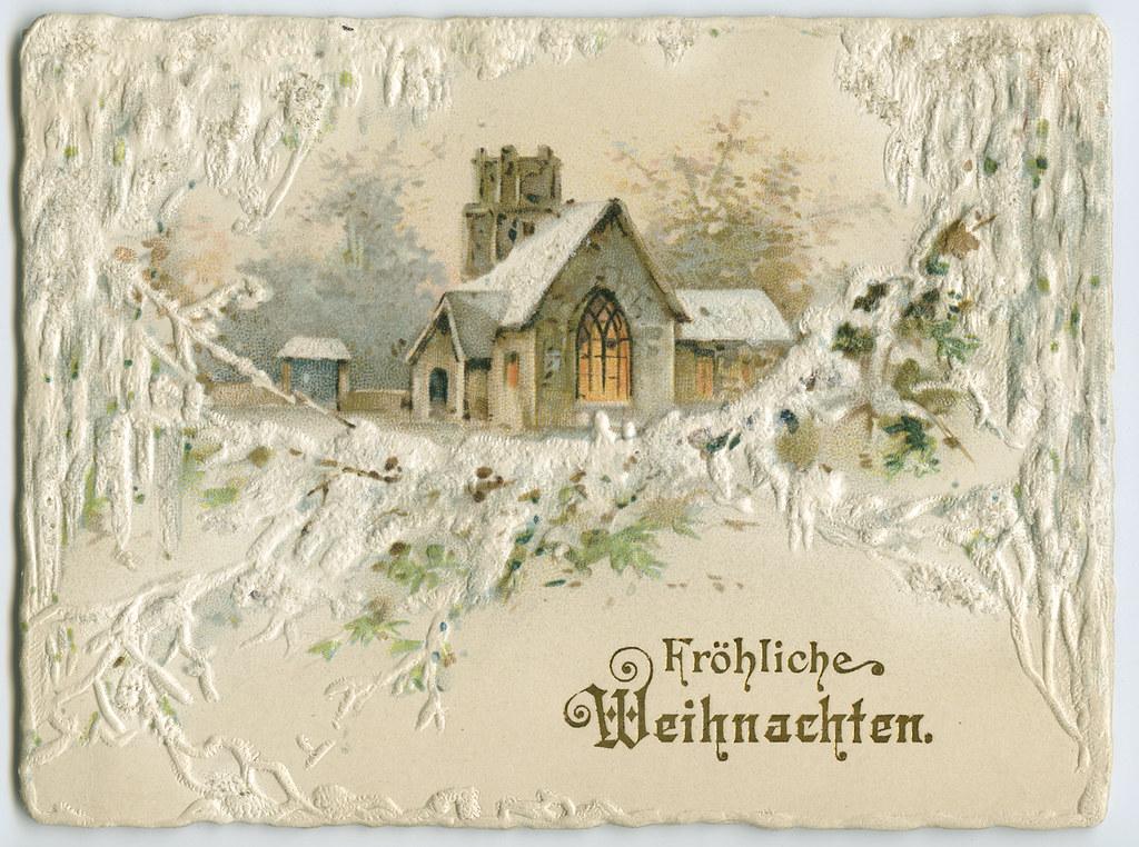 German Christmas Card Early 20th Century Manuscripts
